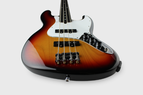 IR-J4 Black-Red-Yellow Burst MIDI Bass